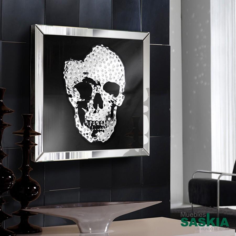 Cuadro espejo skull 60x60
