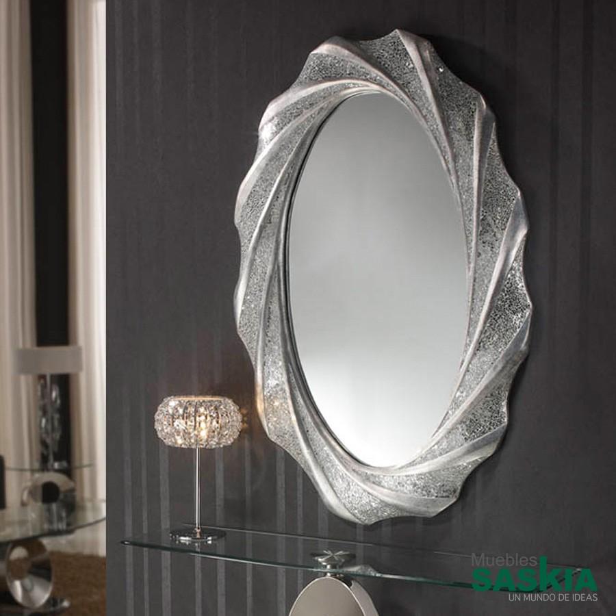Espejo gaudi ovalado