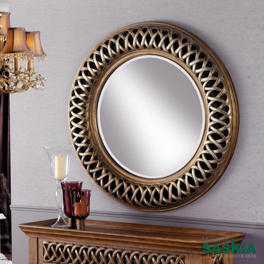 Espejo clásico. Plata Y oro