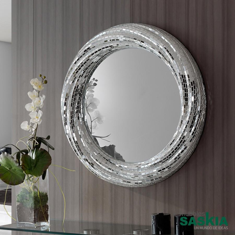 Espejo gaudi rodas redondo