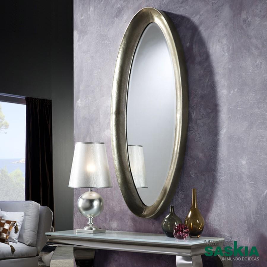 Espejo mediano ebla plata