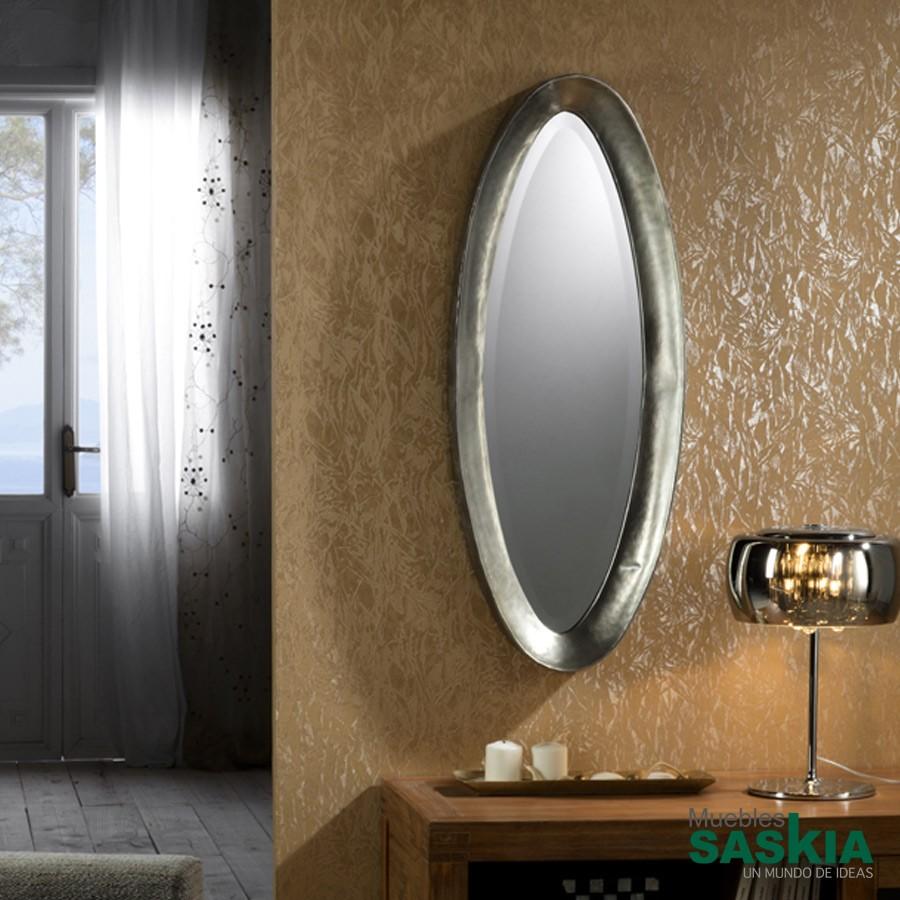Espejos decoraci n moderno muebles saskia en pamplona for Espejo redondo pequeno