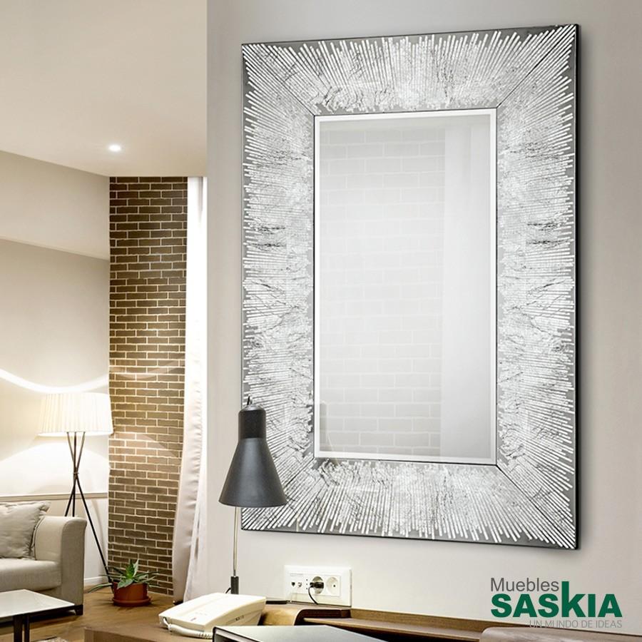 Espejo aurora plata 120x80