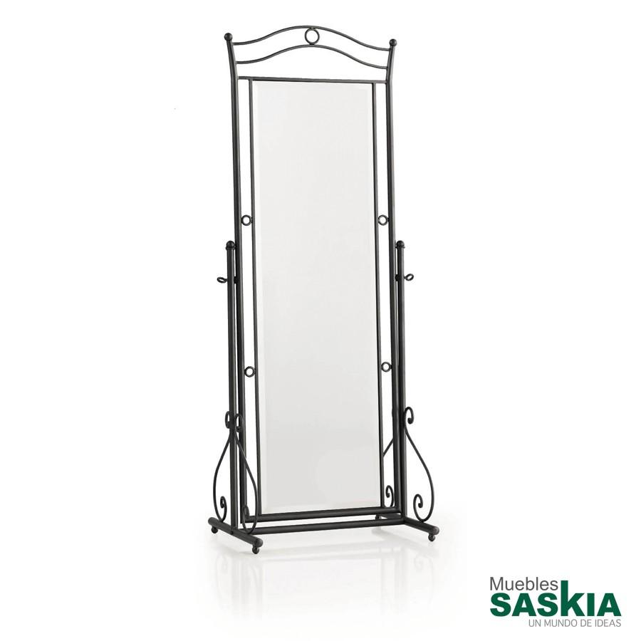 Espejo de vestidor de forja