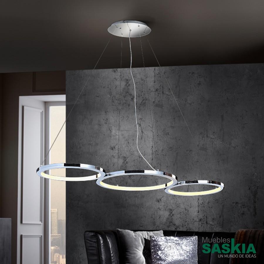 Lámpara led ceres 3 aros 60w
