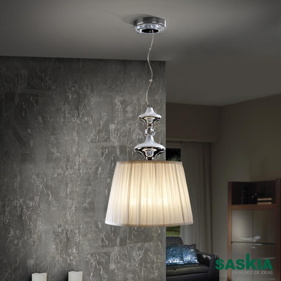 Lámpara 35diámetro  oliver cromo