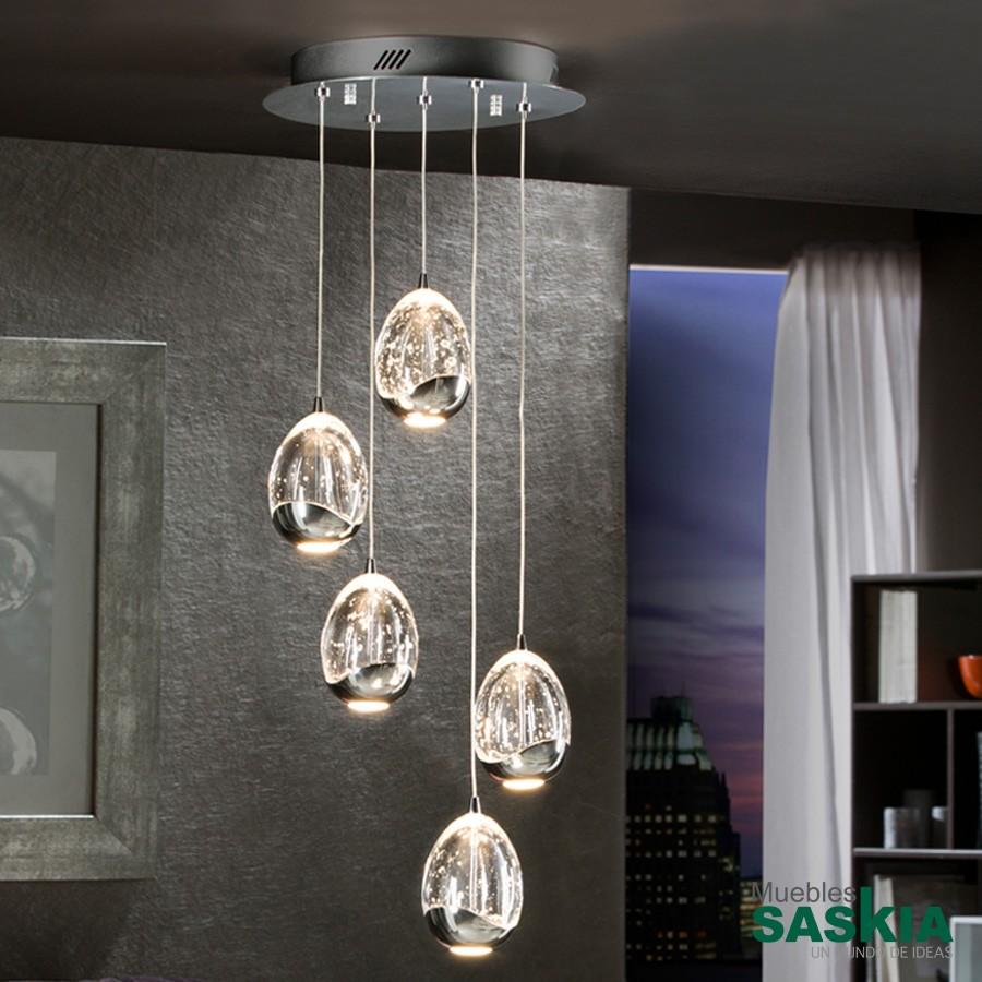 Lámpara diámetro 30 rocio5 led cromo