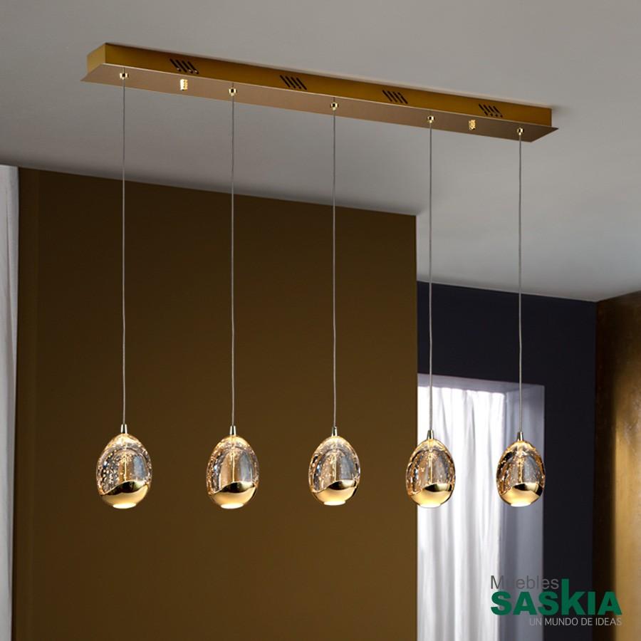Lámpara rocio 5 led oro