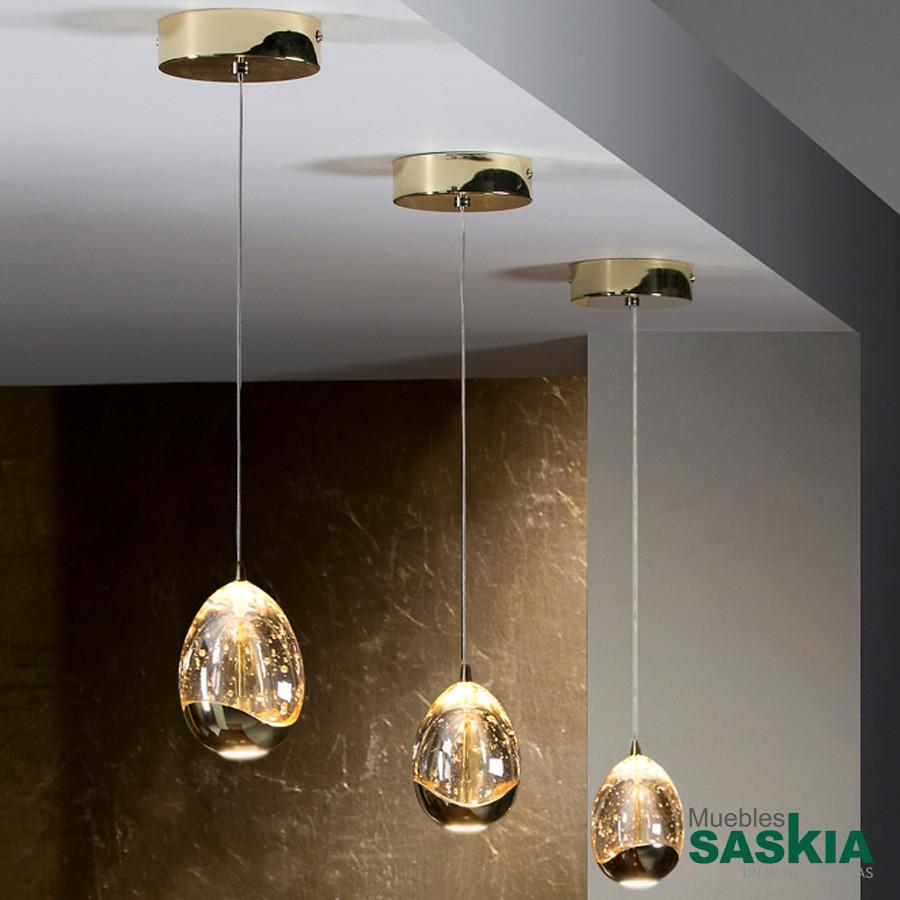 Lámpara rocio 1 led oro