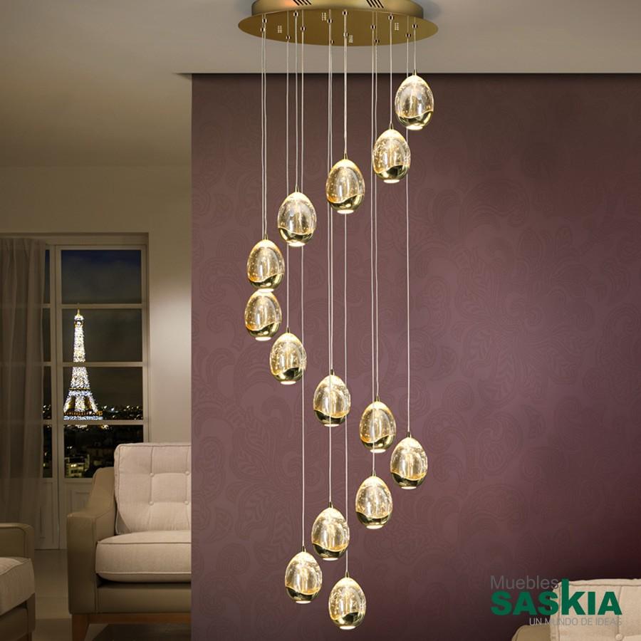 Lámpara diámetro 50rocio14 led oro