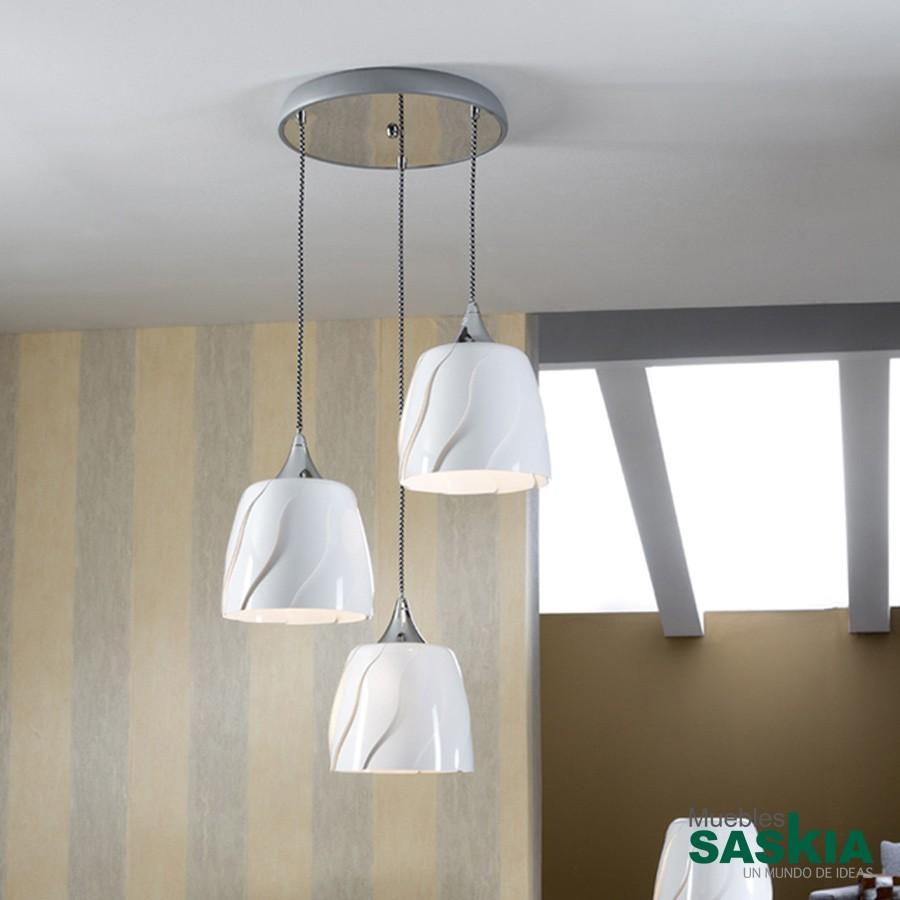Lámpara colgante helike 3l