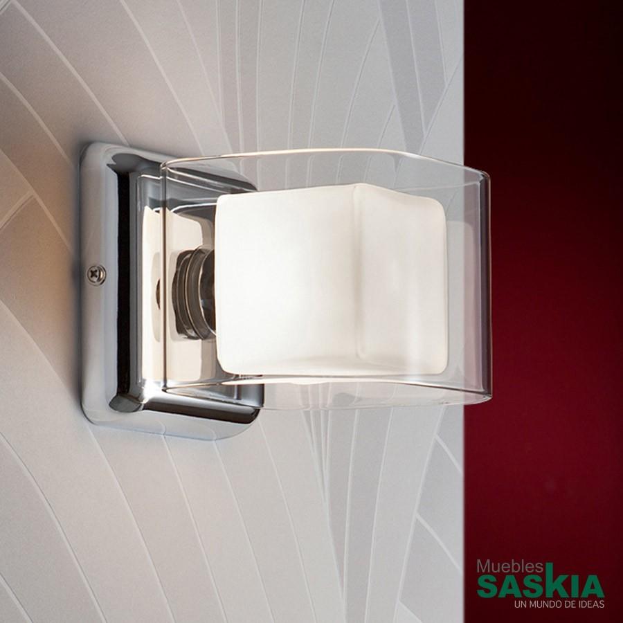 Lámpara de pared cube 1 l