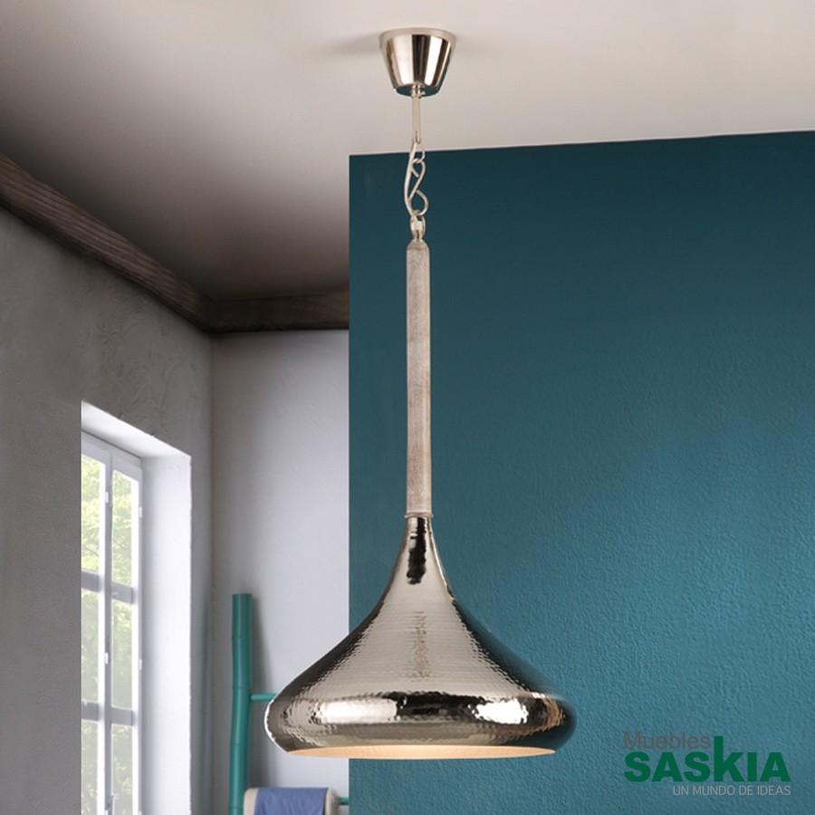 Lámpara colgante ishara diámetro 40 niquel