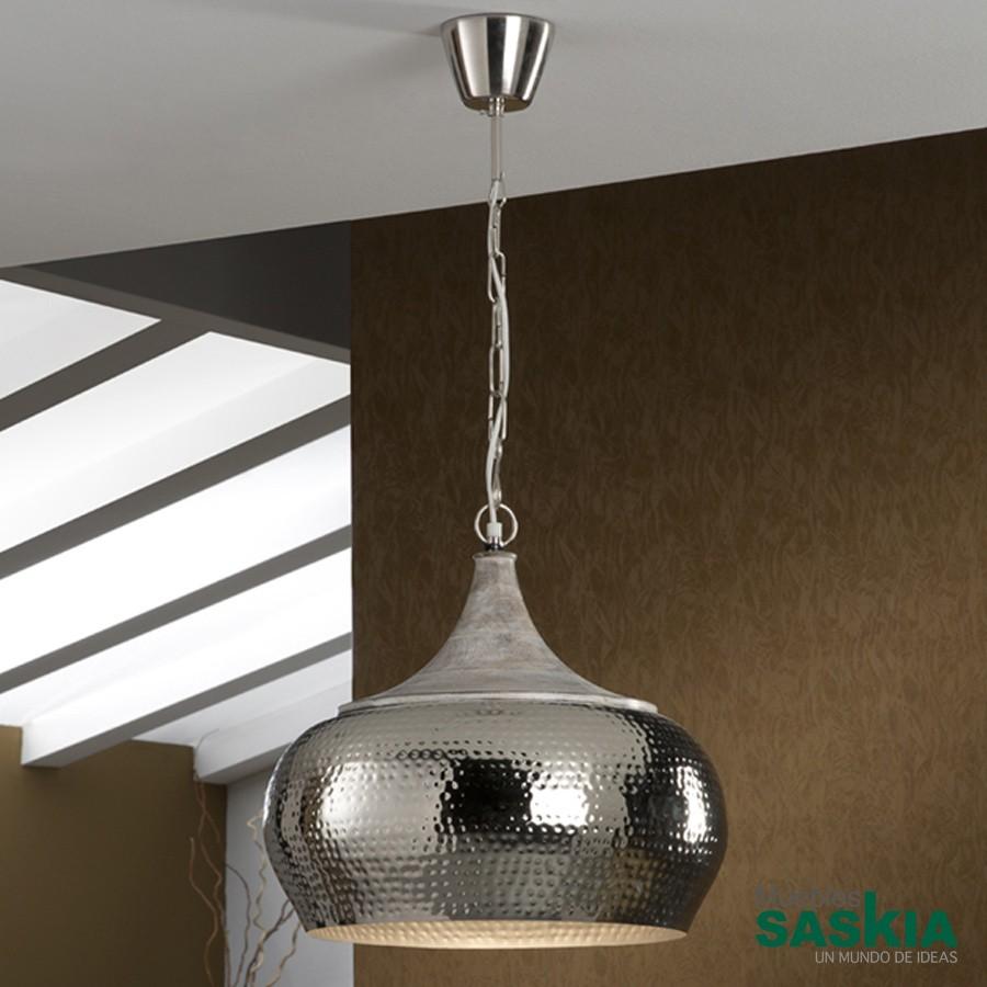 Lámpara colgante ishara 2 diámetro 40 niquel