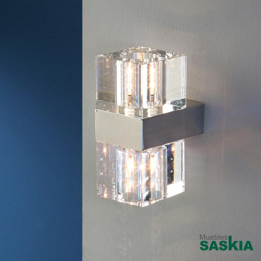 Lámpara de pared cubicg9, 2 luces g9
