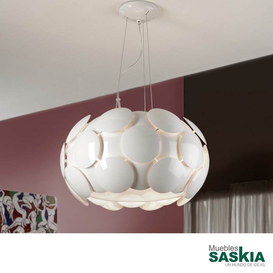 Lámpara colgante egea blanco diámetro 50