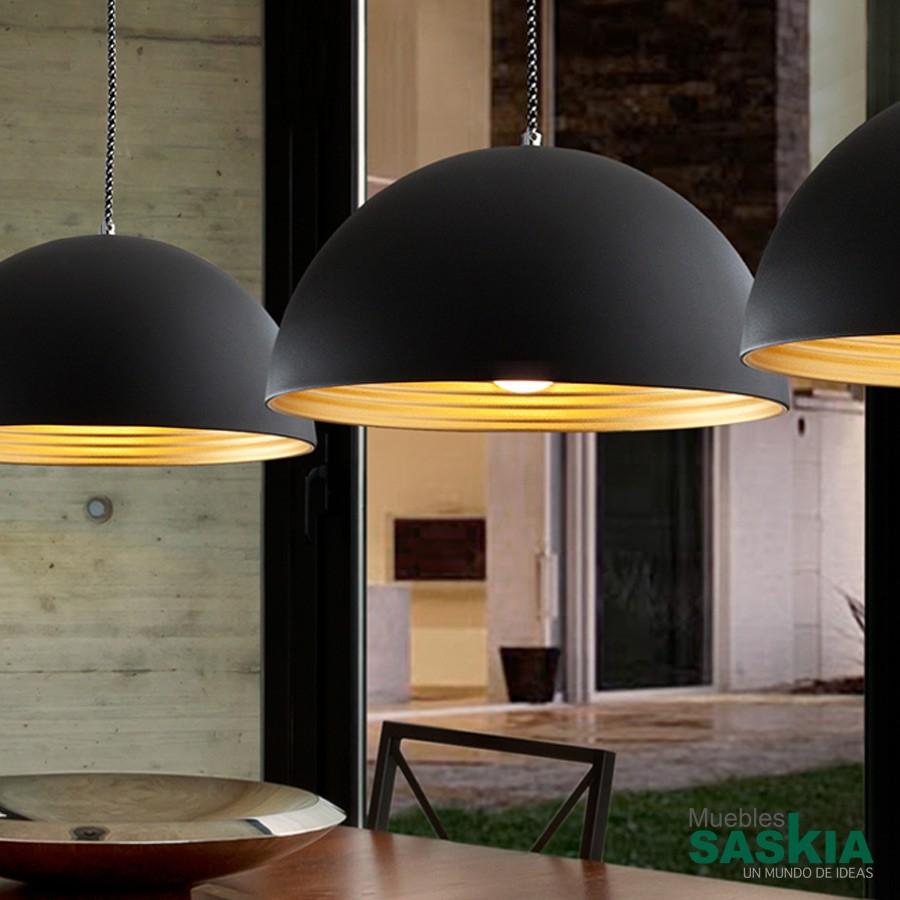 Lámpara colgante tempo diámetro 40 negro oro