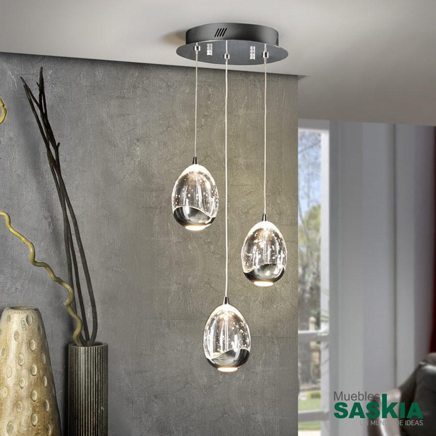 Lámpara diámetro 25 rocio3led cromo