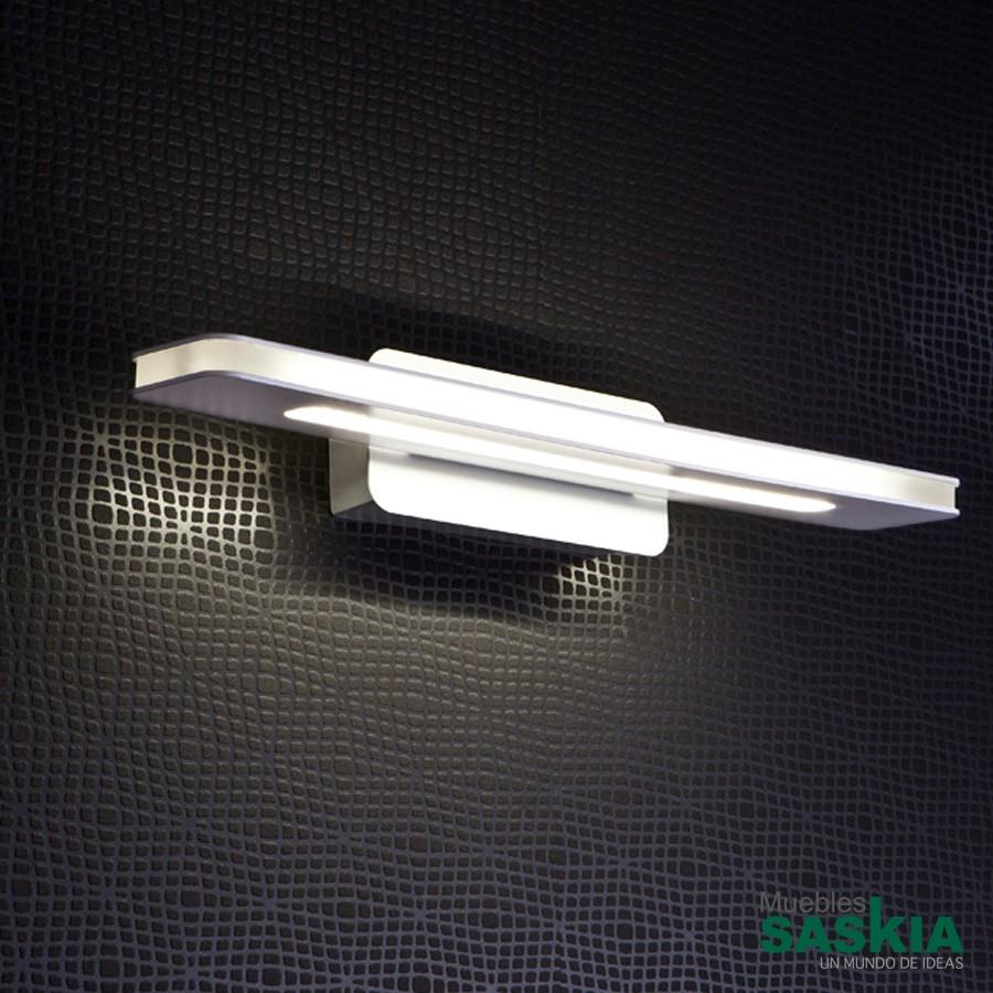 L mpara de pared led muriel blanco 810871 muebles saskia for Lamparas para cenadores