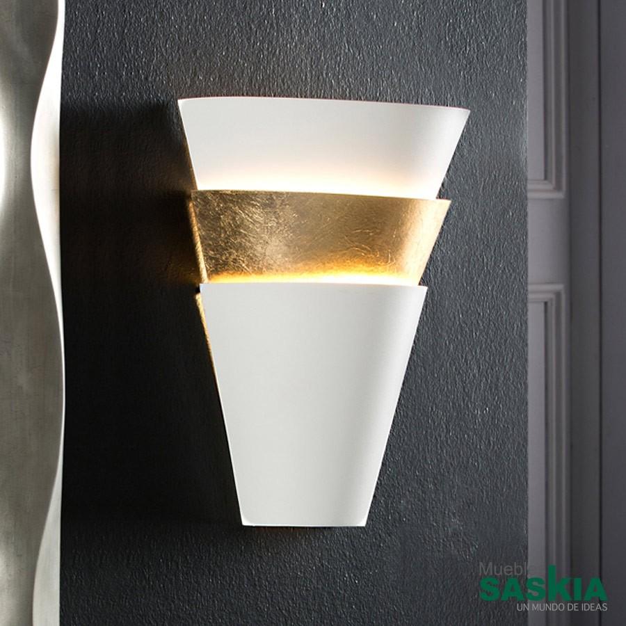Lámpara de pared isis 1l blanco/oro