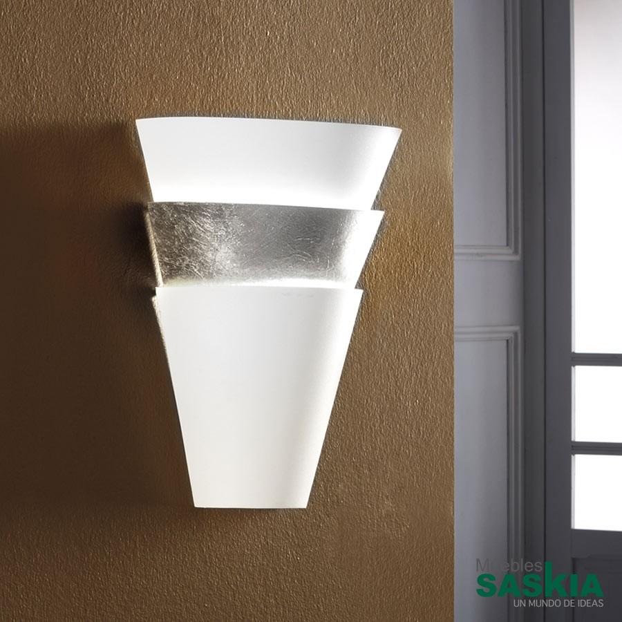 Lámpara de pared isis 1l blanco/plata