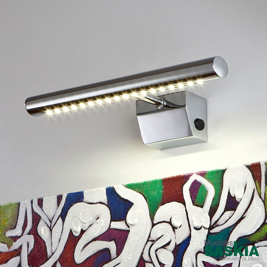 Lámpara de pared led para cuadros cromo