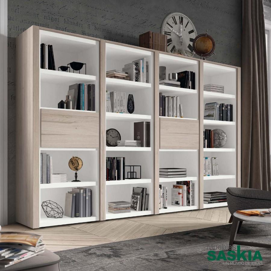 Librer as sal n muebles saskia en pamplona - Librerias salon blancas ...