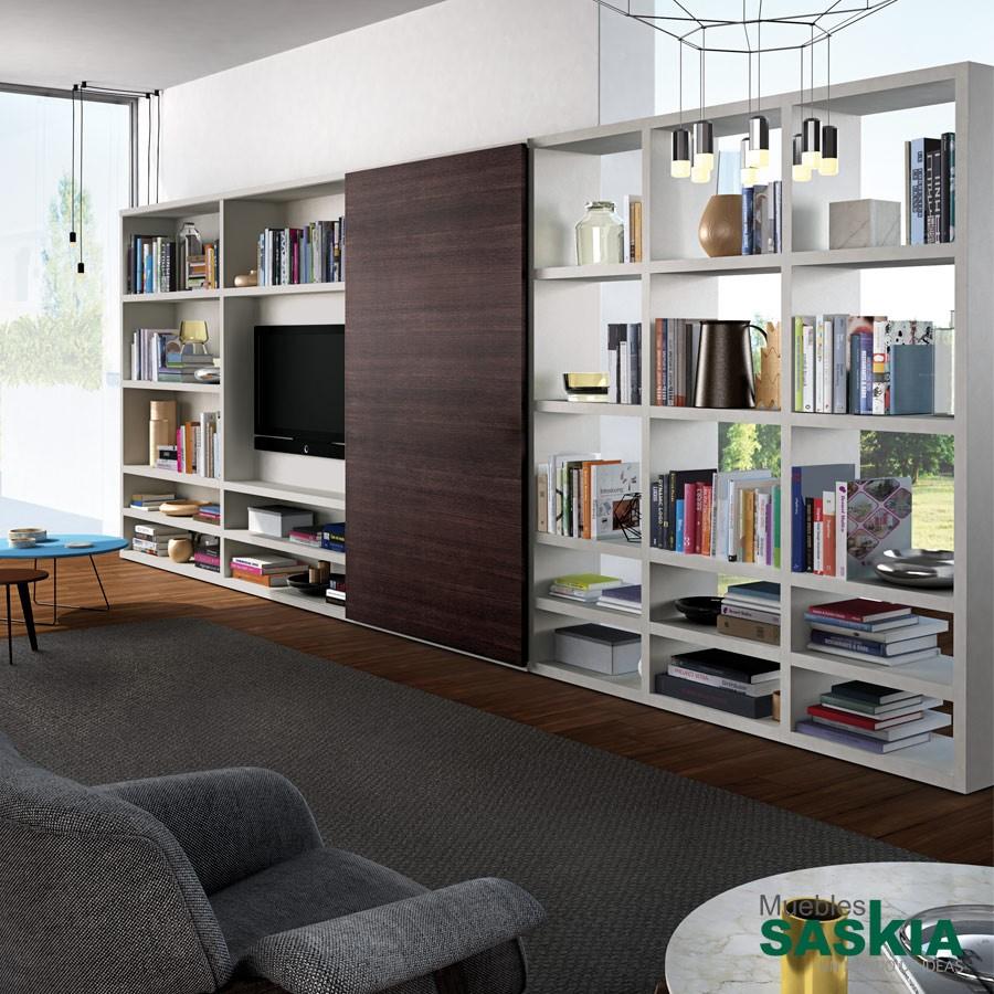 Librería moderna sin trasera