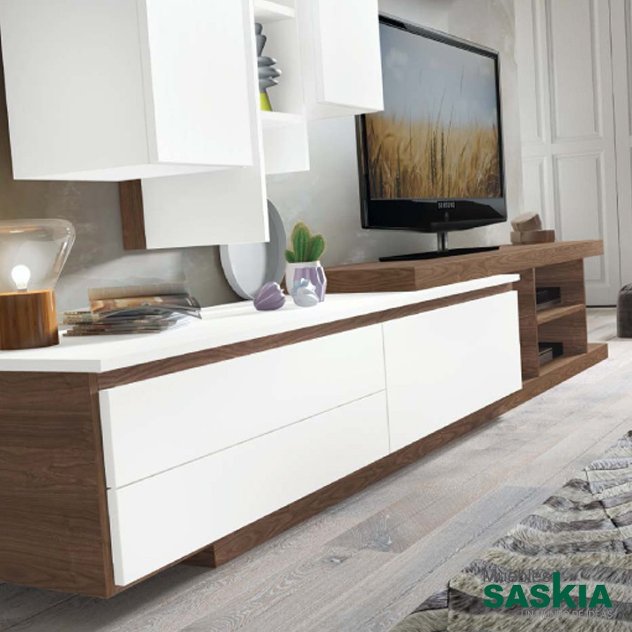 Mueble de sal n moderno 103 composicion 103 rosamor for Muebles salon pamplona