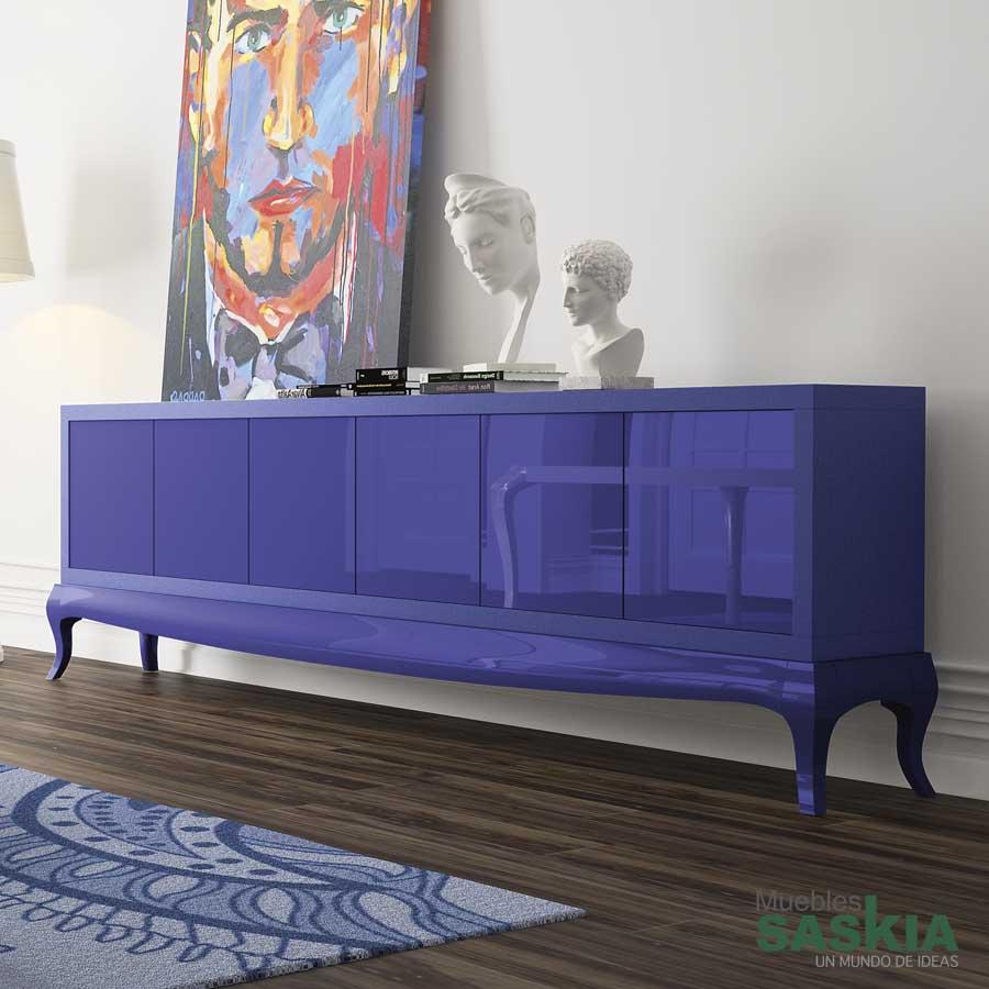 Artesanato E Reciclagem Com Garrafa Pet ~ Aparador Azul Plui G916P plain Muebles Saskia en Pamplona