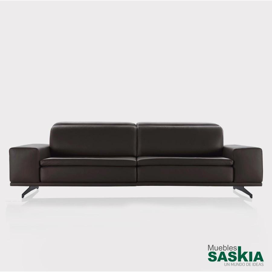 Sofá moderno Siena de cuatro plazas en piel