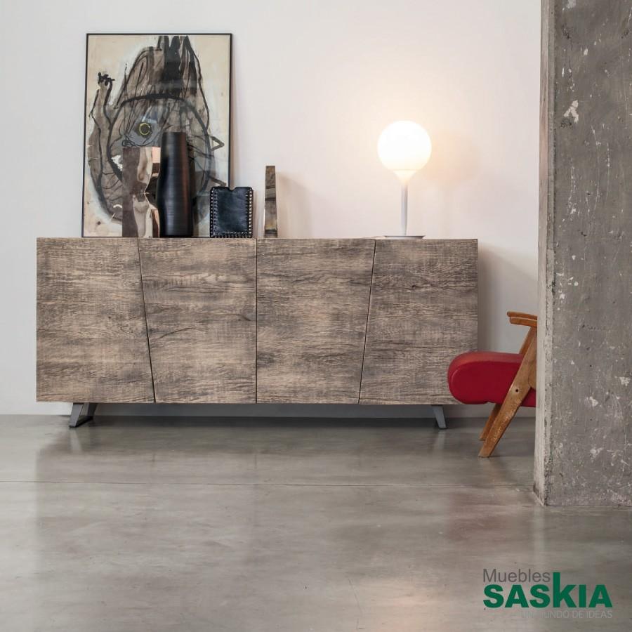 Aparador con beta de madera, estilo moderno