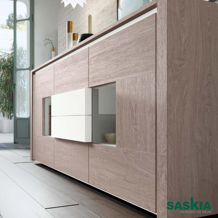 Aparador bajo fabricado en roble composicion 101 rosamor muebles saskia en pamplona - Aparador bajo ...