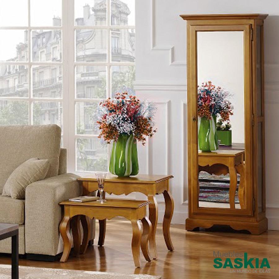 Vitrina con espejo, estilo clásico