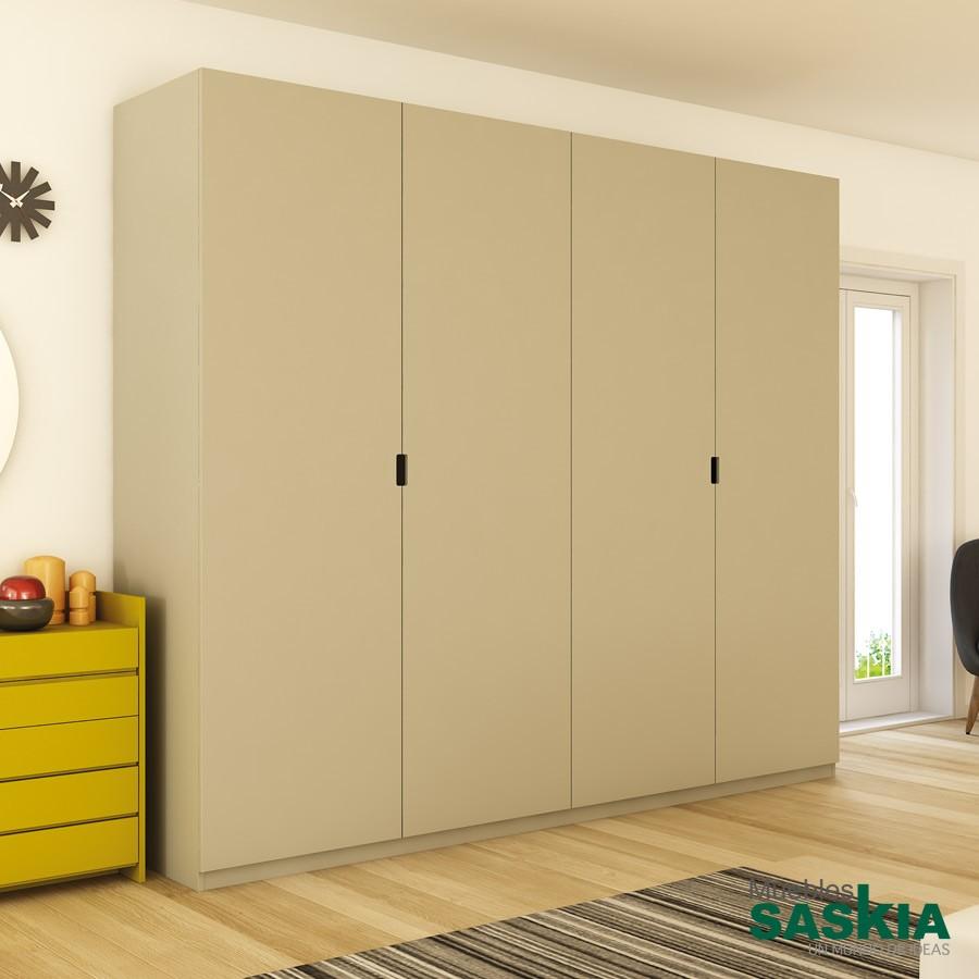 Armario moderno r dano puertas batientes armario vestidor actual rodano 77 muebles saskia en - Armarios puertas batientes ...