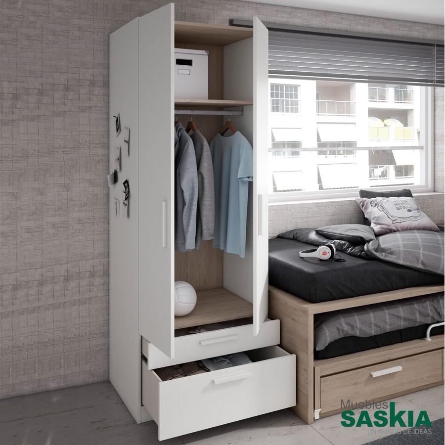 Armarios Y Vestidores Juvenil Moderno Muebles Saskia En