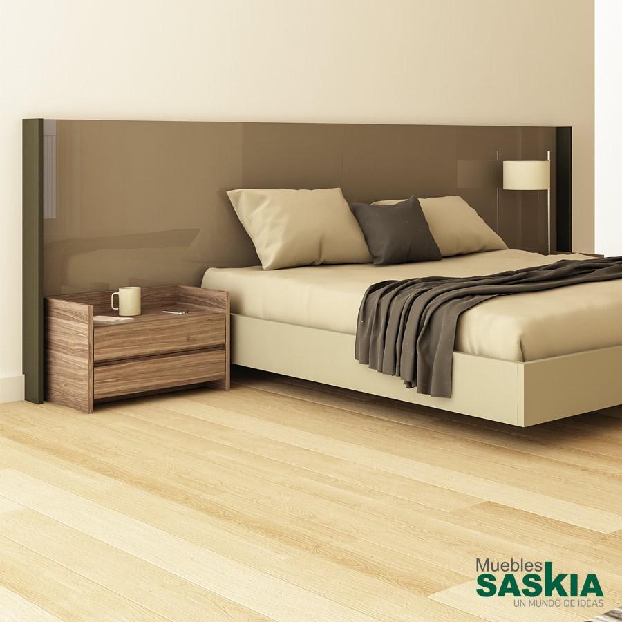 Cabecero Obi, mueble de dormitorio