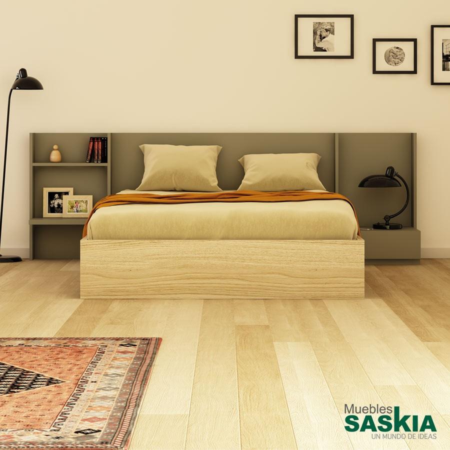 Cabecero Obi, mueble de dormitorio moderno
