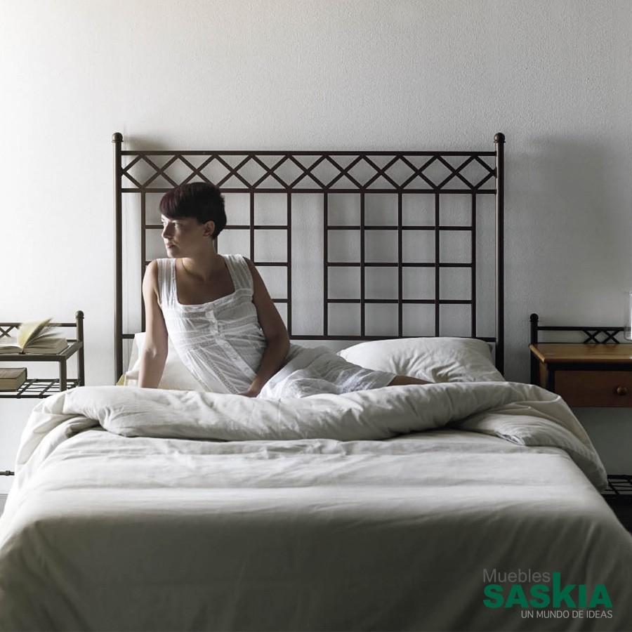 Cabeceros dormitorio forja muebles saskia en pamplona - Cabeceros de hierro ...