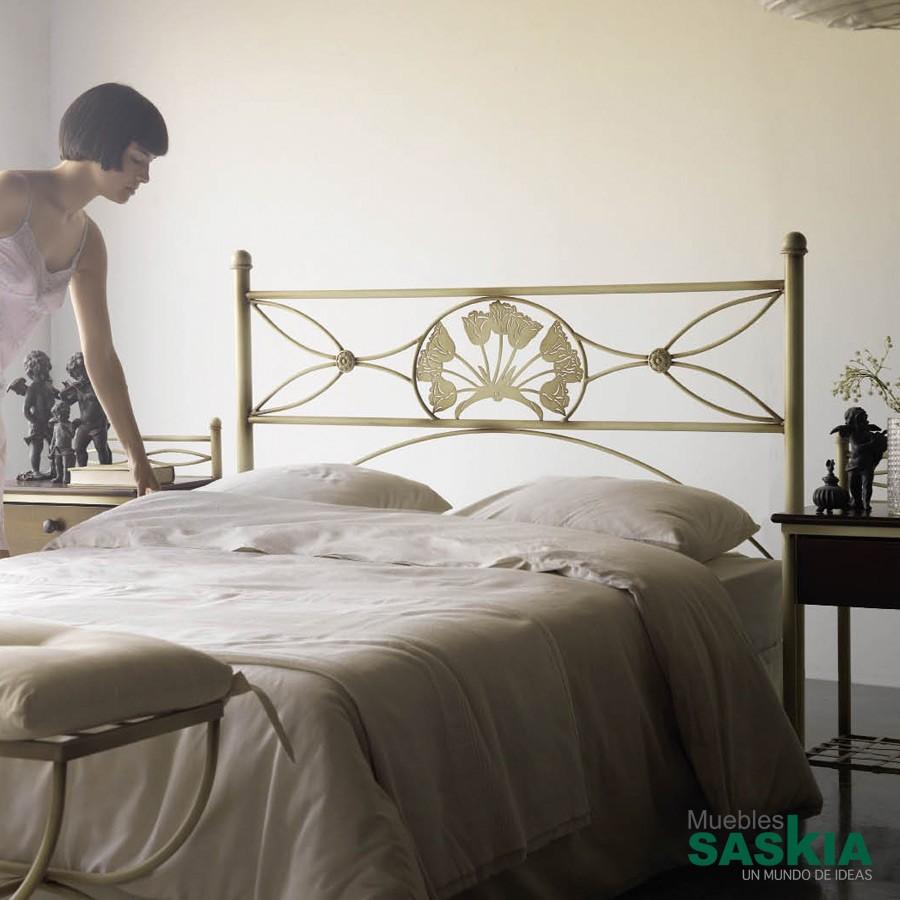 Cabeceros dormitorio forja muebles saskia en pamplona - Cabecero hierro forjado ...