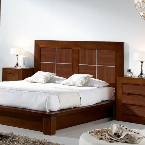 Cabecero l neas 150 4327 muebles saskia en pamplona - Cabezales de cama de madera ...
