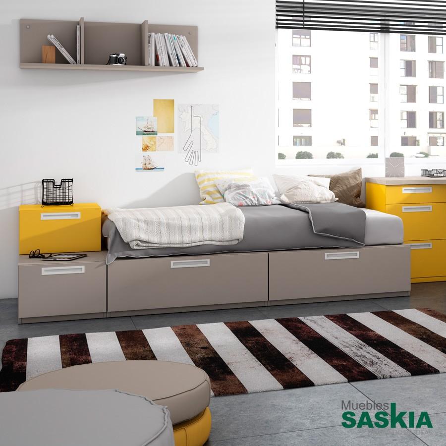 Base de cama moderno, dormitorio juvenil