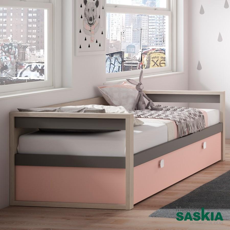 Camas juveniles juvenil moderno muebles saskia en pamplona - Dormitorios juveniles pamplona ...