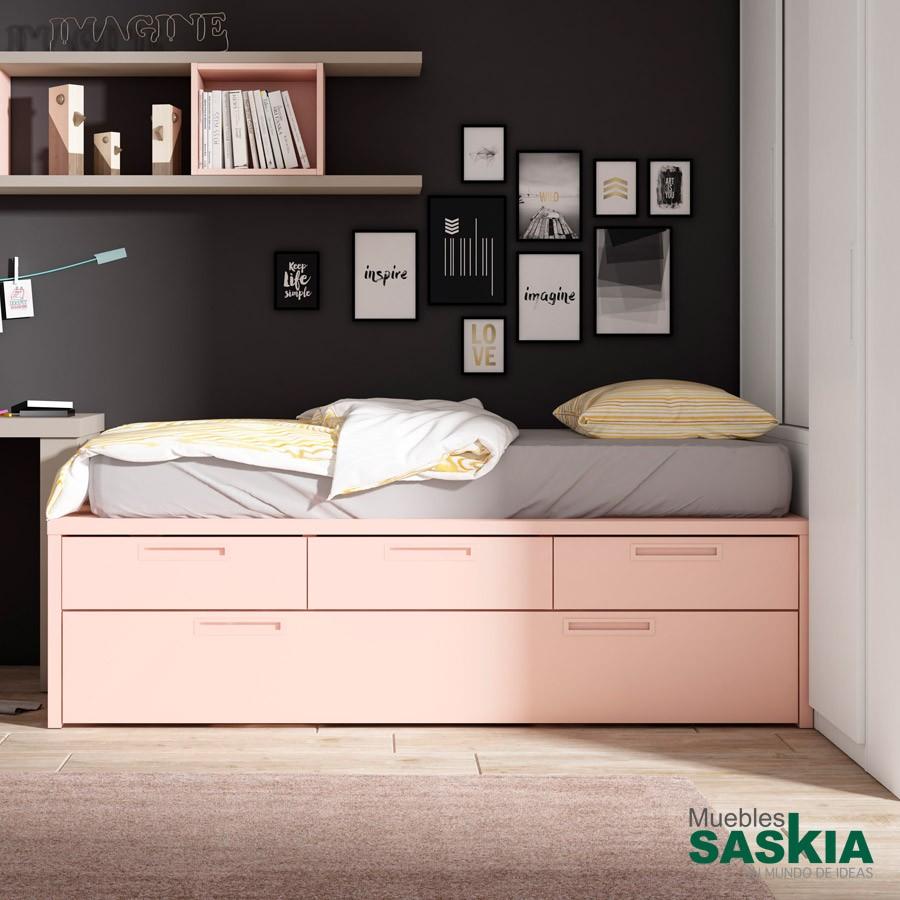 Mueble de dormitorio cama nido lan mobel 3881 4 muebles - Mueble cama nido ...
