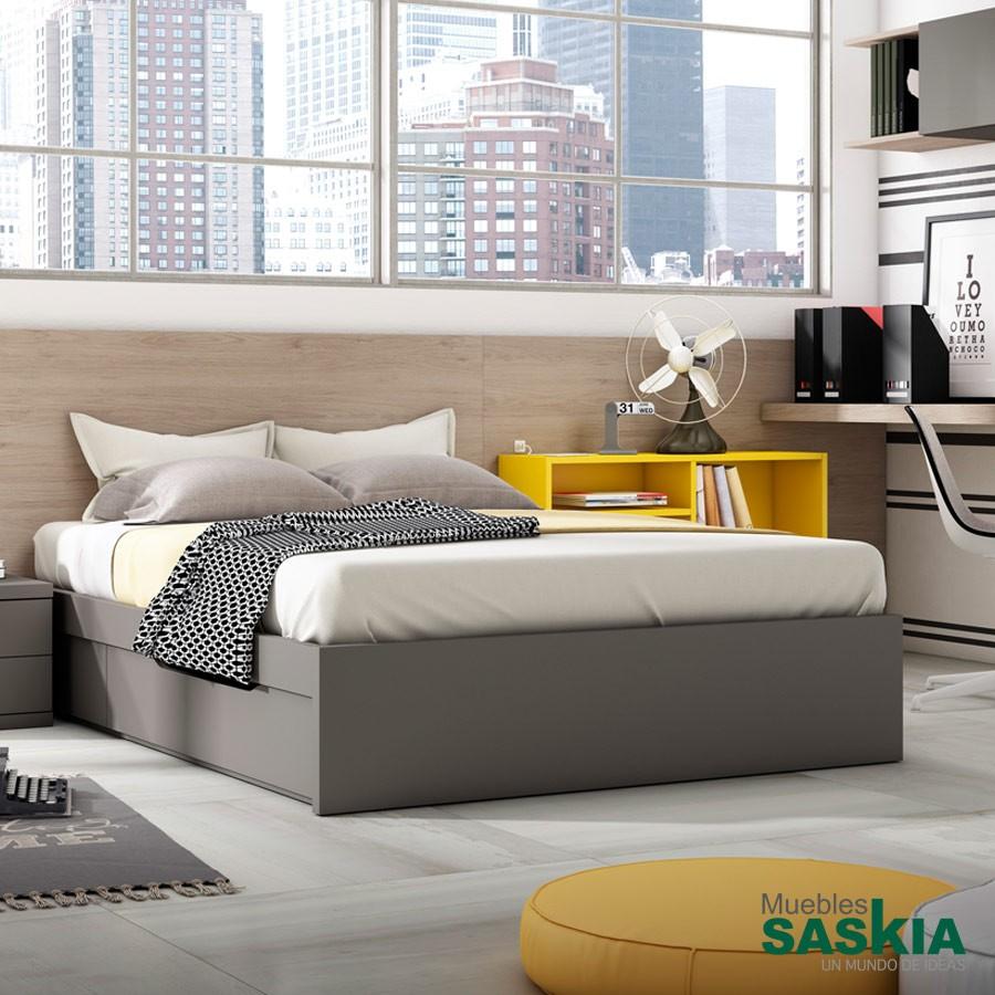 Camas juveniles juvenil muebles saskia en pamplona for Camas con almacenaje