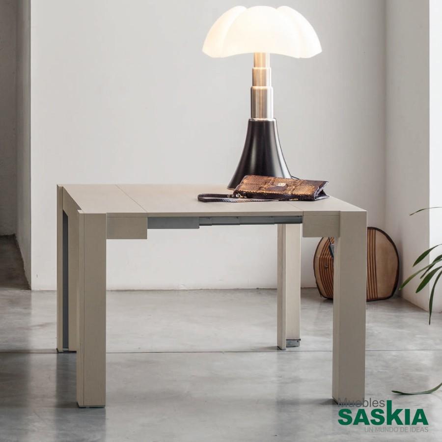 Consola extensible en mesa, estilo moderno