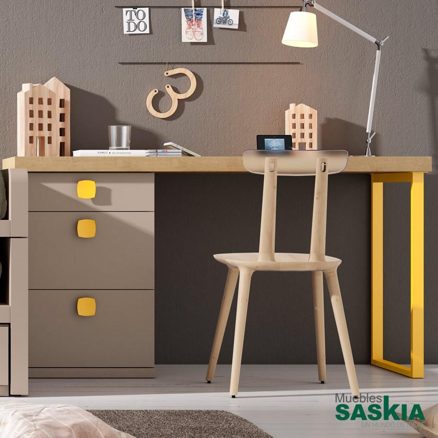 Mesas de estudio juvenil muebles saskia en pamplona - Escritorio ninos ...