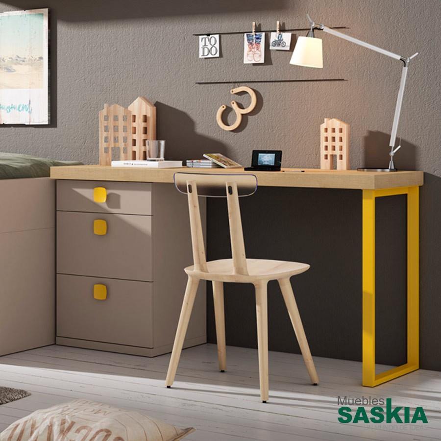 Escritorio para dormitorio de ni o lan mobel escritorio cmp 14 muebles saskia en pamplona - Escritorio ninos ...