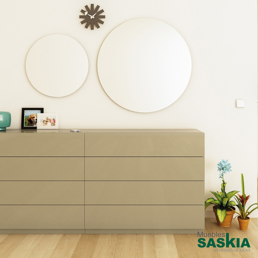 Espejos decoraci n moderno muebles saskia en pamplona for Espejo redondo grande
