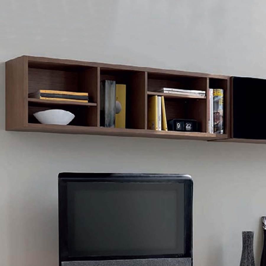 Estantes modernos decoracin salon estilo moderno for Estantes modernos